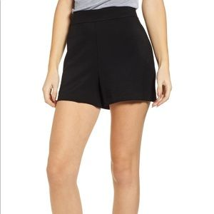 High waist fabric short